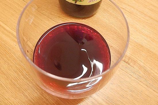赤芋農村のブルーベリー酒 着色料なしの、自然な色合い