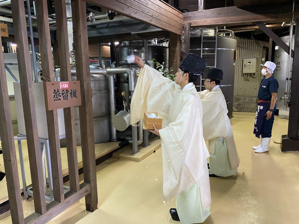 今年も、もうすぐ焼酎造りが始まります。醸造始め式(7月21日)